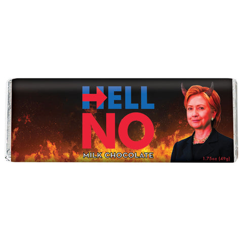 NEW Milk Chocolate Hillary Clinton Bar (HELL NO!)