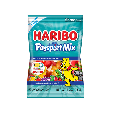 Haribo® Passport Mix, Anniversary Edition - 4oz.