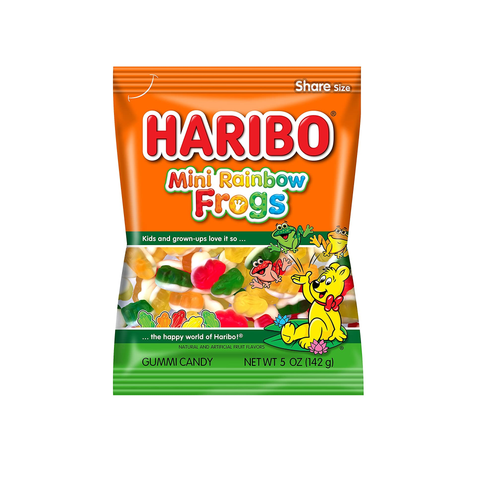 Haribo® Mini Rainbow Frogs - 5oz.