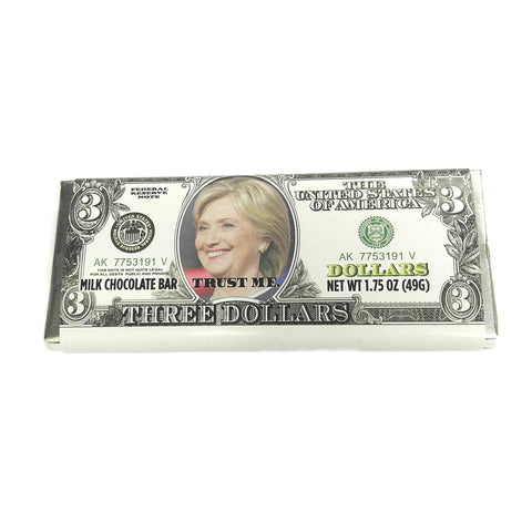 Milk Chocolate Hillary Clinton Bar