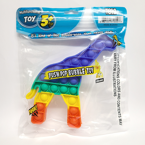 Rainbow Giraffe Pop It