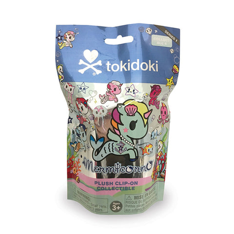 TokiDoki - Mermicorno Plush Clip-On Keychain - Series 1 Collectible Blind Pack