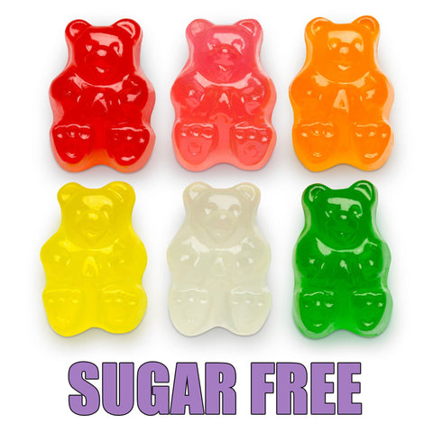 Sugar Free Assorted Fruit Gummi Bears - 6oz. Bag