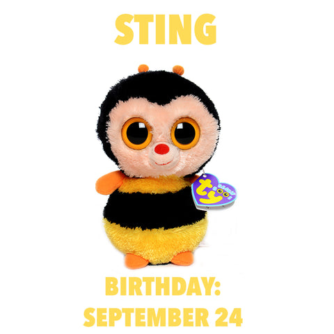 Ty Beanie Boos - Sting - Retired 2014