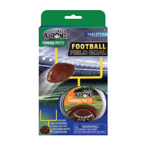 Crazy Aaron's® Tabletop - Football Field Goal, Touch Down! Thinking Putty®