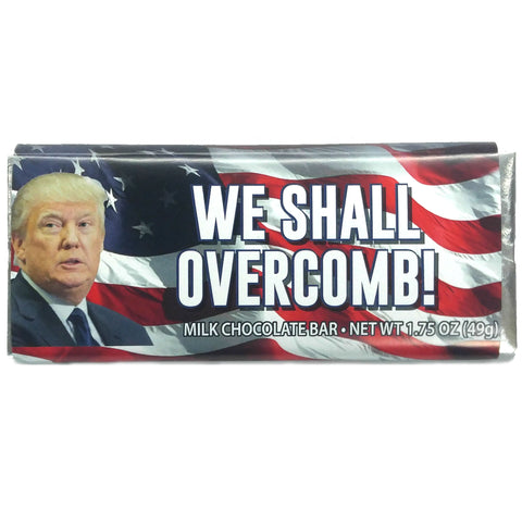 Milk Chocolate Donald Trump Bar (WE SHALL OVERCOMB!)
