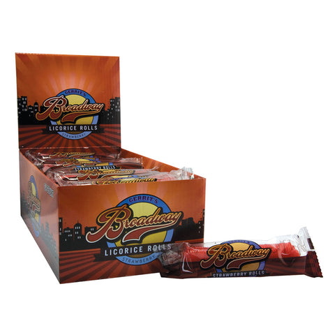Broadway Licorice Rolls - Strawberry (2 oz.)