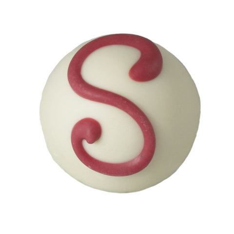 Large White Strawberry Cheesecake Truffle