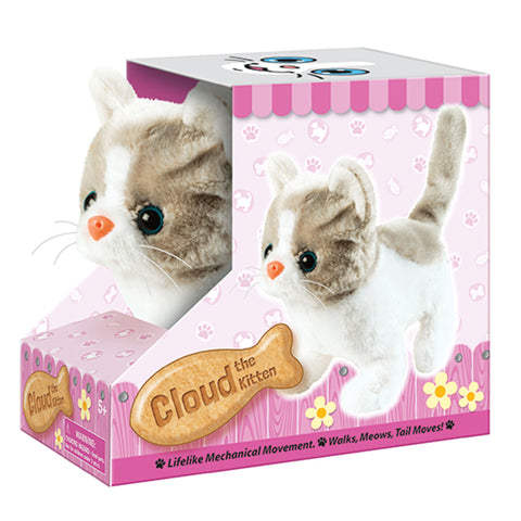 Cloud the Kitten - Battery Operated Animatronic Pet