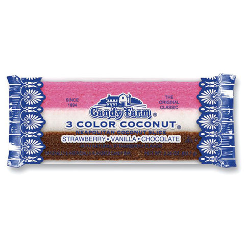 Candy Farm 3 Color Coconut Slice - 2.25 oz. Bar