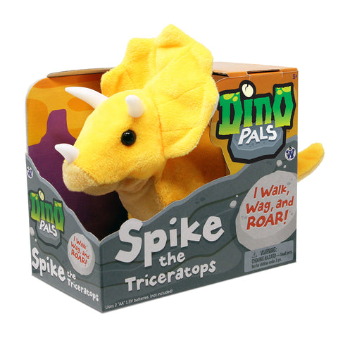Spike the Triceratops - Battery Operated Animatronic Dino Pal