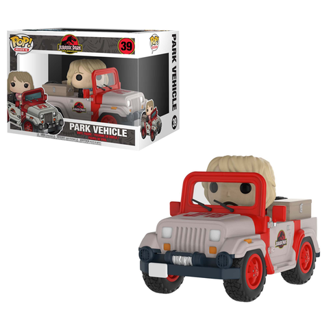 Funko POP! Rides: Jurassic Park 25th Anniversary - Park Vehicle w/ Ellie Sattler