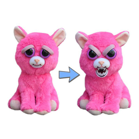 "Feisty Pets: Lady Monstertruck 8"" Pink Plush Cat"