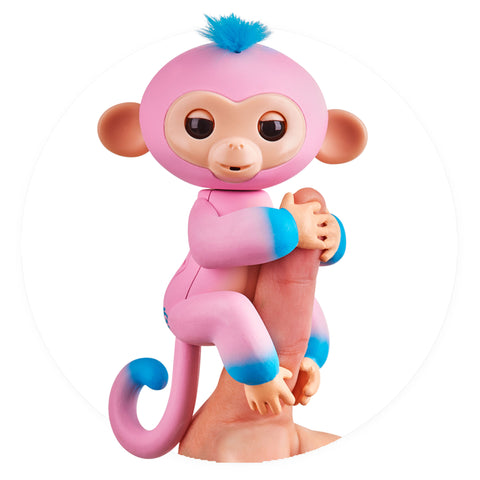 Fingerlings - Interactive 2tone Baby Monkey - Candi (Pink/Blue with Blue Hair)