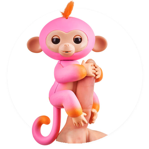 Fingerlings - Interactive 2tone Baby Monkey - Summer (Pink/Orange with Orange Hair)