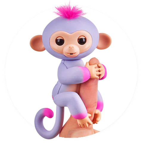 Fingerlings - Interactive 2tone Baby Monkey - Sydney (Purple/Pink with Pink Hair)
