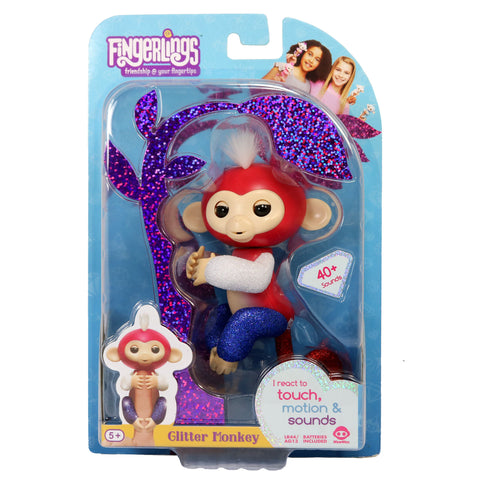 Fingerlings - Interactive Glitter Baby Monkey - Liberty (Specialty Store Exclusive)