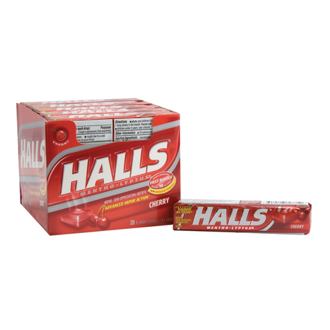 Halls Cherry Cough Drops