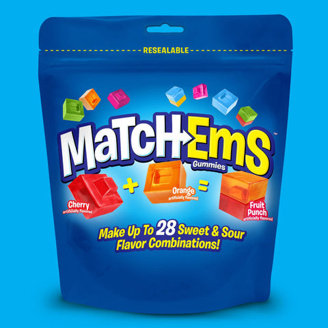 Matchems Gummies Candy - 8 oz. Resealable Pouch