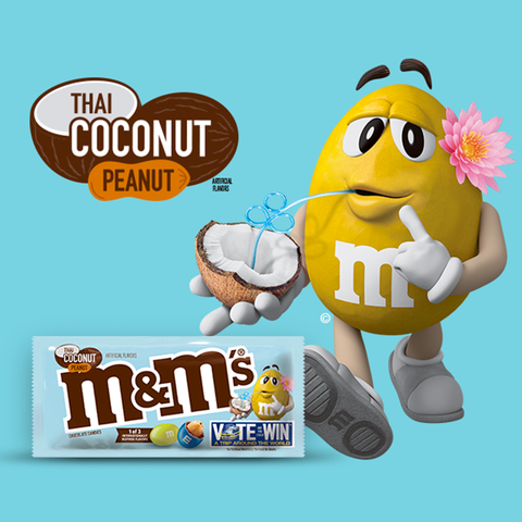 M&M's® Thai Coconut Peanut - 3.27 oz. Share Size