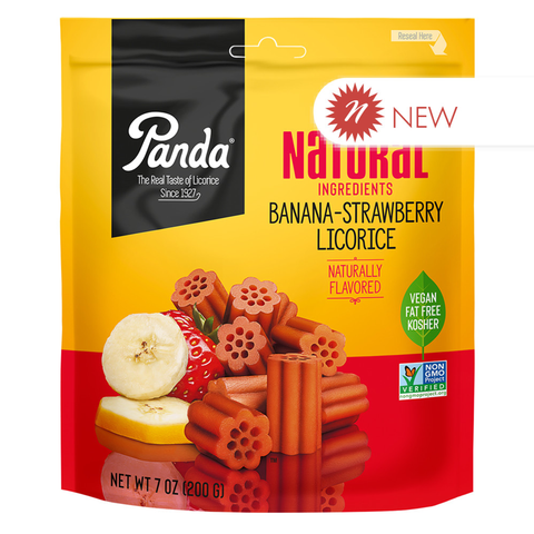 Panda® Original All Natural Soft Banana-Strawberry Licorice - 7 oz.