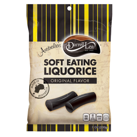 Darrell Lea Soft Eating Liquorice - Original Flavor 7 oz Bag