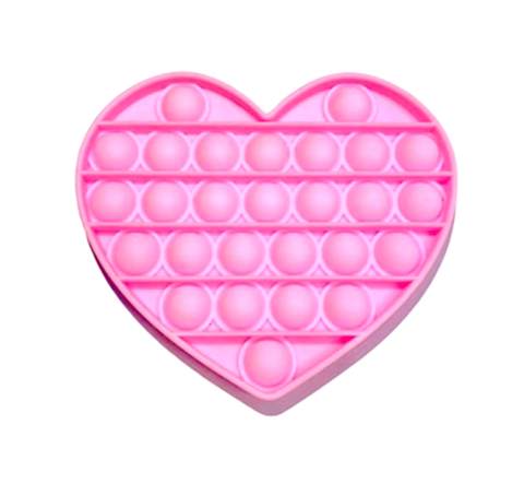 Pop Its- Bubble Fidget Toy (100% Silicone) - Pink Heart