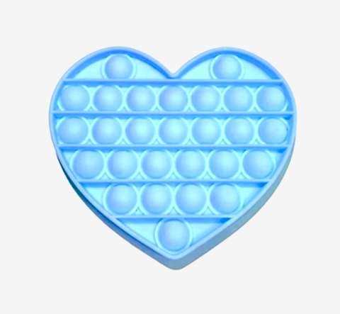 Pop Its - Bubble Fidget Toy (100% Silicone) - Blue Heart
