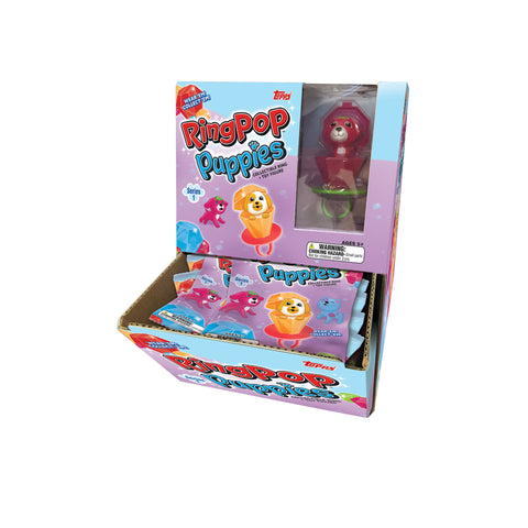 Ring Pop Puppies Series 1 - Collectible Ring + Toy Figure.