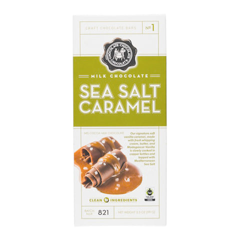 Milk Chocolate Sea Salt Caramel Bar - #1