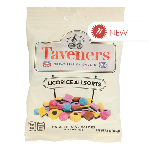 Taveners English Allsorts 5.8 Oz. Peg Bag