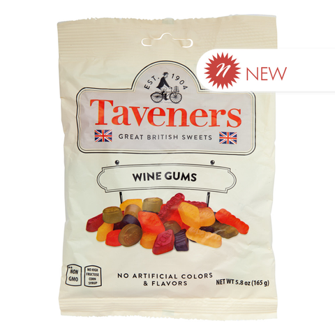 Taveners Wine Gums 5.8 Oz. Peg Bag