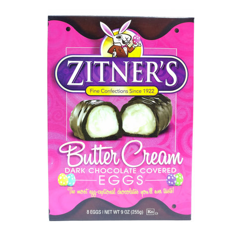 Zitner's Butter Cream Dark Chocolate Covered Egg (Box of 8)