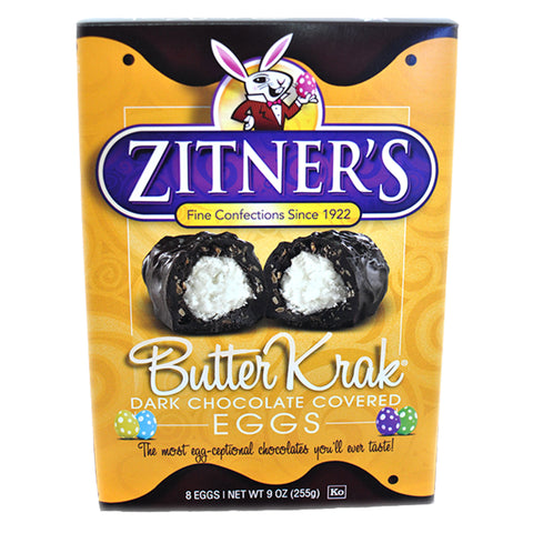Zitner's Butter Krak Dark Chocolate Covered Egg (Box of 8)