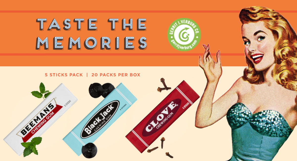 Your Three Favorite Retro Chewing Gums are coming back!!