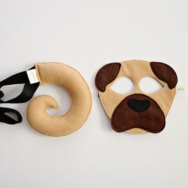 DOG- Pug- Mask, Tail, Paws