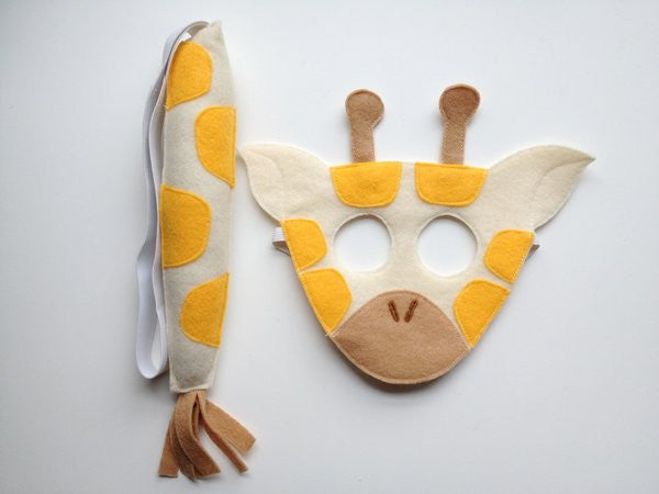 GIRAFFE- Mask, Ears, Tail