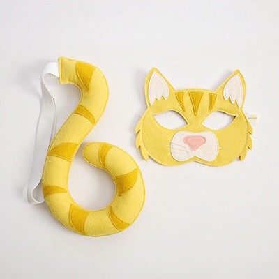 CAT- Yellow Tabby- Mask, Tail, Paws