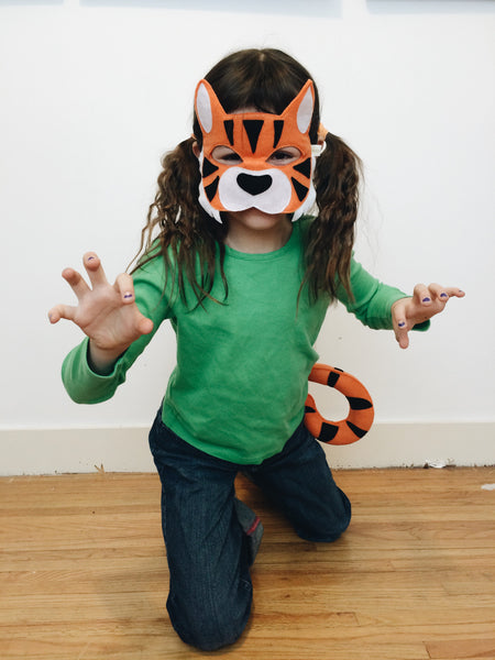 TIGER- Mask, Ears, Tail, Paws