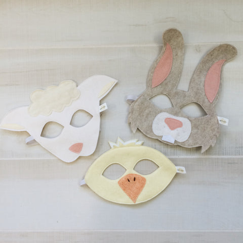 EASTER TRIO- Bunny, Chick, White Sheep