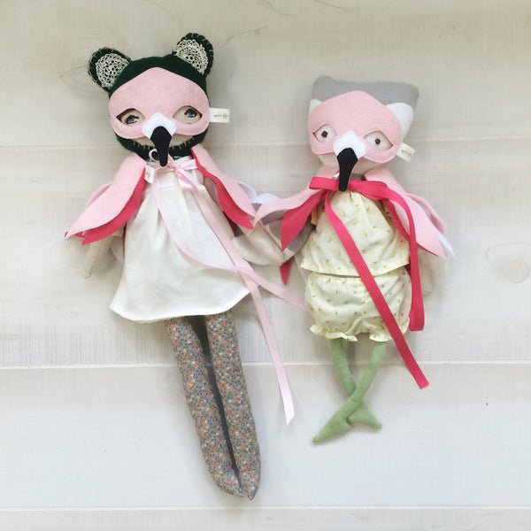 DOLL Flamingo Mask + Wing Cape SET