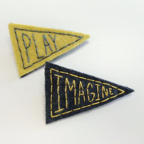PLAY + IMAGINE Pennant Pins