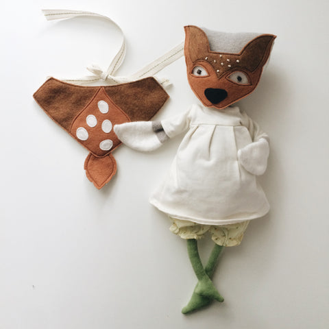 DOLL Deer Mask + Cape Set