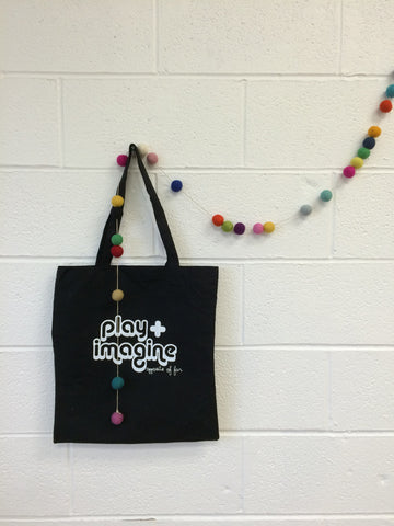 TOTE BAG- Play + Imagine