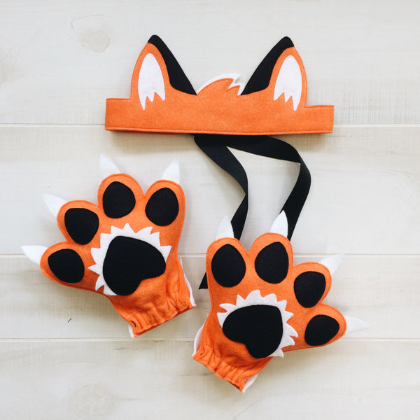 FOX- Ears + Paws Set