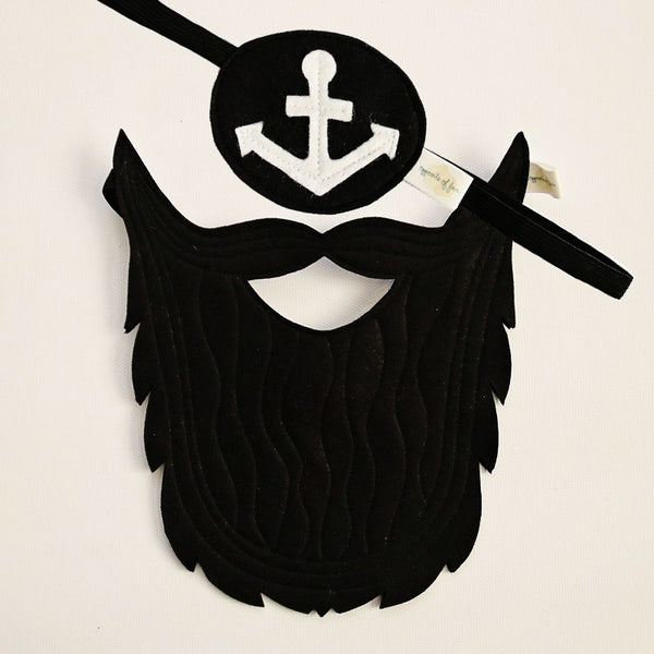 PIRATE SET- Beard, Eyepatch