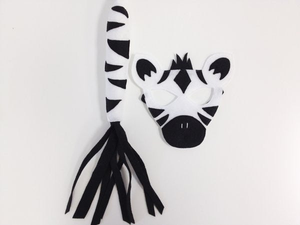 ZEBRA- Mask, Ears, Tail
