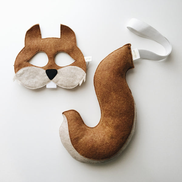 SQUIRREL- Mask, Tail, Ears, Paws