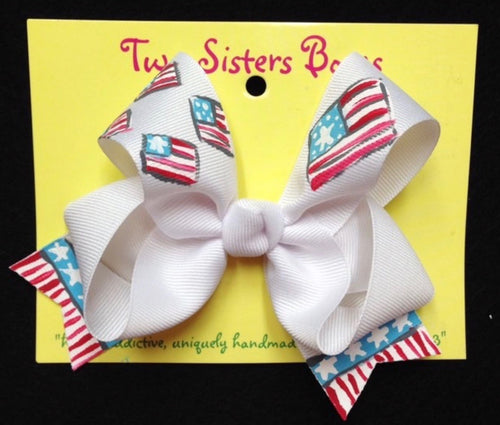 Patriotic Stripe Bow