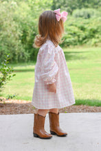 Peggy Knit Dress, Pink Gingham
